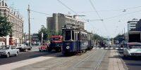 Wibautstraat in 1964, sinds 1977 rijdt hier geen tram, maar ondergronds een metro. Bron: Library of Amsterdam Public Transport