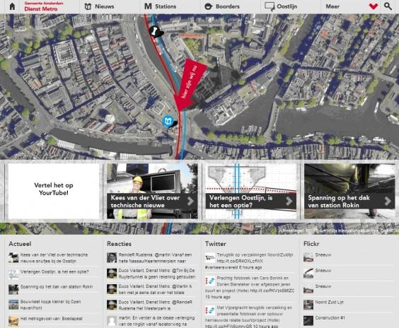 screenshot van de website hierzijwij.nu, het hart van de social media-campagne.