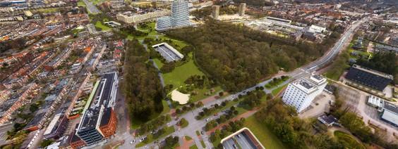 Het eindresultaat zal hopelijk prachtig zijn. Zo wordt de weg gedeeltelijk verdiept aangelegd. Hier overheen komen drie 'deksels'. Op de deksels ontstaat ruimte voor een nieuw groen gebied: het Zuiderplantsoen.