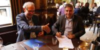 Foto: Ingrid Koedood Maandag 20 juni is Gerard Scheffrahn officieel gedechargeerd voor het contract Diepe Stations.