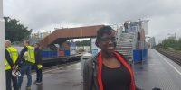 De nieuwe loopbrug bij station Van der Madeweg, gebouwd in het kader van de renovatie van de Oostlijn. Fot: Metro en Tram