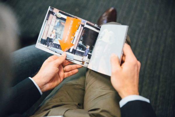 Boekje waarin alle kernwaarden met tekst én fotografie staat werden verbeeld. Foto: Nina Albada Jelgersma