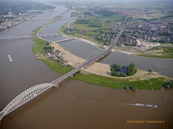 Ruimte voor de rivier in Nijmegen. Foto: Rijkswaterstaat.