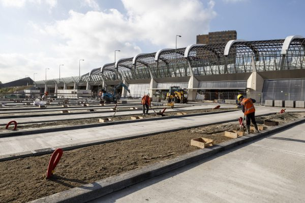 Amsterdam Noord, 16 oktober 2016. Noord/Zuidlijn, Station Noord.    The City of Amsterdam is building a new subway (underground) line. The tunnel is partly constructed underneath the old part of the city. The completion of the metro line is scheduled for 2017.  Foto: Ge Dubbelman/Hollandse Hoogte